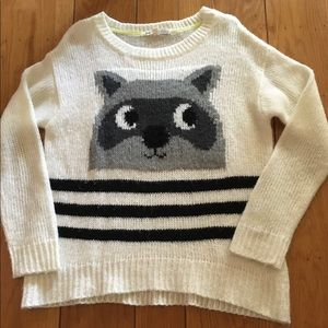 Jolt Racoon Sweater Size Large
